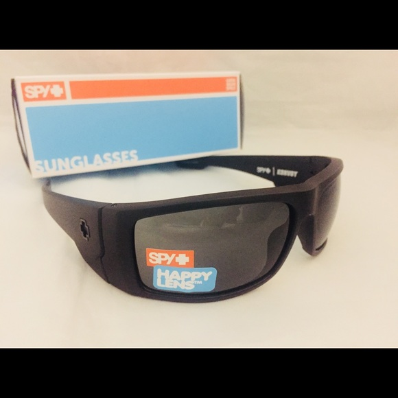 e0780c1944 Spy Optic Konvoy Sunglasses Matte Black Happy Lens